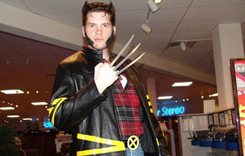 "Mark Twitchell, known as the ""Dexter Killer,"" dressed up as Wolverine for Halloween."